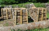 劈好的薪柴-未劈的薪柴 薪碳材/开裂原木 榉木, 橡木