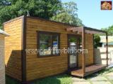 Maisons Bois - Charpente Taillée À Vendre - Vend Maison À Ossature Bois Pin  - Bois Rouge Résineux Européens 18.00 m2 (sqm)