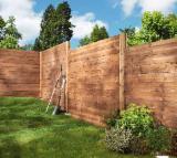 Mobili Europa - Recinzione in legno: kit di recinzione, pali, traliccio