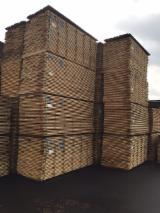 Laubholz  Blockware, Unbesäumtes Holz Deutschland - Eiche besäumt - Qualität QF 1 - 4x - einseitig splitnfrei - Langfriese