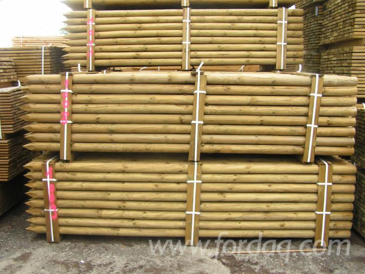 Vender-Madeira-Redonda-Aparada-De-Forma-Cil%C3%ADndrica-Pinus---Sequ%C3%B3ia-Vermelha