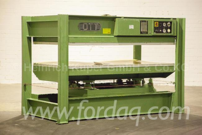 Used-OTT-JU-2513-1980-Hand-Fed-Veneering-Presses-For-Flat-Surfaces-For-Sale