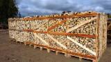 劈好的薪柴-未劈的薪柴 薪碳材/开裂原木 桦木, 角树, 橡木