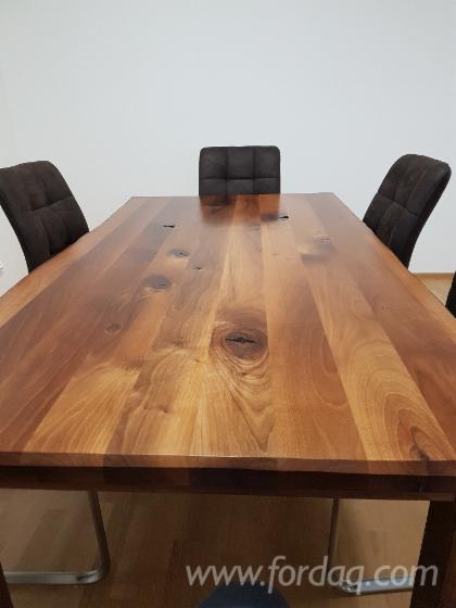 1-Schicht-Massivholzplatten--Eiche