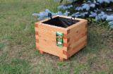 Poland Garden Products - Larch Flower Pots, 40 x 40 h35 cm