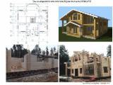Holzhäuser - Vorgeschnittene Fachwerkbalken - Dachstuhl - Vierkantblockhaus, Fichte  , Lärche , Kiefer  - Föhre
