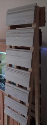 Погонаж - Профили, Плакирование, Вагонка, Обшивка, Дверные Наличники, Плинтус, Палки Для Продажи - Плинтус высокий из ясеня цельного с покрытием или без покрытия