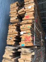 Hardwood  Unedged Timber - Flitches - Boules - Oak Unedged Lumber, AB/B, KD, 27-60 mm thick