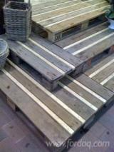 Recycled Rubberwood Pallets, 140 x 800 x 1000 mm