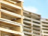 Exporting Recycled Wooden Pallets, 140 x 1000 x 1000 mm