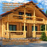 Casa Di Tronchi - Casa Di Tronchi (Canadese) Larice Siberiano, Pino Siberiano, Abete Siberiano Resinosi Europei