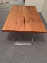 Dining Room Furniture  - Fordaq Online market - Solid Massive Oak Ash Maple Slabs Table Top Sets Stainless Industrial Aluminium Steel Legs For Tables