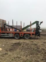 Camion Transport Busteni - Vând macara forestieră DAF