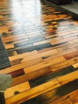 Solid Wood Flooring - Solid Reclaimed Catalpa Parquet
