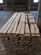 Hardwood  Unedged Timber - Flitches - Boules Demands - Birch Half Edged Boards 25-50 mm