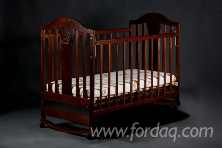 Grey Alder Napoleon Baby Crib Without Box