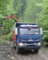 Camioane Transport Busteni Lungi - Ansamblu forestier 44 tone. Renault 450DXi, an 2008, AC, 6x4 + remorca