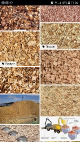 Firewood, Pellets And Residues Air Dried 12 Months - Pine - Scots Pine Wood Chips From Sawmill