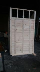 Wood Components, Mouldings, Doors & Windows, Houses - Pine Storage Shed 140 x 120 x H250 cm.
