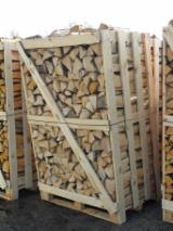 Bois De Chauffage, Granulés Et Résidus Europe - Vend Bûches Fendues Aulne Noir, Aulne Blanc, Bouleau FSC