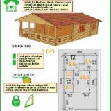 木屋- 预制框架 轉讓 - 花园原木小木屋-车棚, 西伯利亚松, 新疆云杉