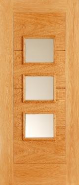 Drzwi, Okna, Schody Na Sprzedaż - Drzwi, MDF (Medium Density Fibreboard), Naturalny Fornir