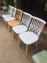 Colorful Flower Rubberwood Chairs