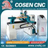 null - China Hot sale cnc woodworking lathe machine COSEN CNC