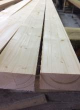 Mouldings - Profiled Timber For Sale - Pine / Spruce Interior Wall Panelling 12.5 mm