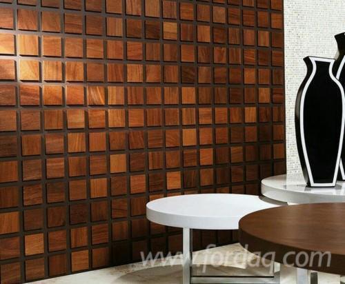 mosaico di legno all\'interno
