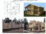 Holzhäuser - Vorgeschnittene Fachwerkbalken - Dachstuhl Zu Verkaufen - Sibirische Lärche, Kiefer  - Föhre, Fichte