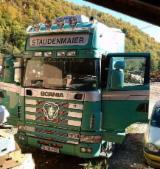 Oprema Za Šumu I Žetvu Kamion Za Prevoz Dužih Stabala - Kamion Za Prevoz Dužih Stabala Scania Polovna 2001 Rumunija