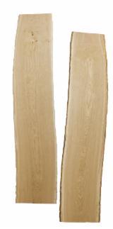 Laubholz  Blockware, Unbesäumtes Holz - Eiche Bretter unbesäumte KD=10 +/-2%, 27mm