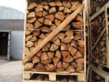 Firewood, Pellets And Residues Firewood Woodlogs Not Cleaved - Fresh Alder Not Cleaved Firewood in 1 MP Boxes