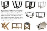 B2B Wohnzimmermöbel Zum Verkauf - Kostenlos Registrieren - Eiche Massivholztisch mit Stahlbeinen