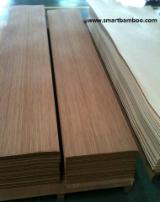 Sliced Veneer For Sale - FSC Bamboo Veneer, Quartered - figured, 0.6 mm thick
