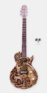 Buy Or Sell Wood Woodturnings - Turned Wood - Custom Mahogany Guitars Carving