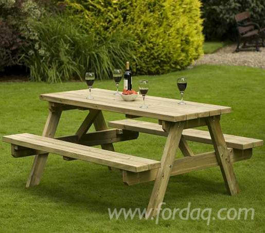 Pine Spruce Picnic Bench - Spruce picnic table