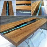 Tavoli in legno e Resina Epossidica
