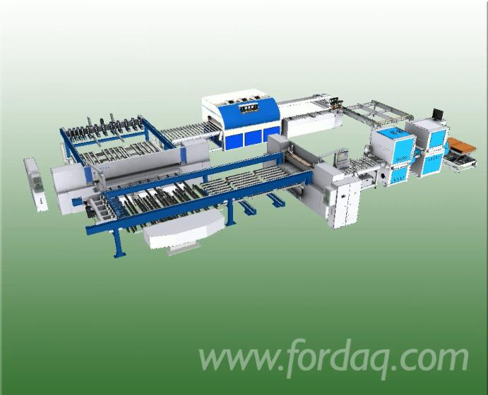 Automated-Solid-Wood-Edge-Gluing-Press-Line