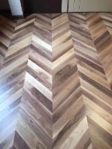 Black Walnut Chevron Parquet T&G