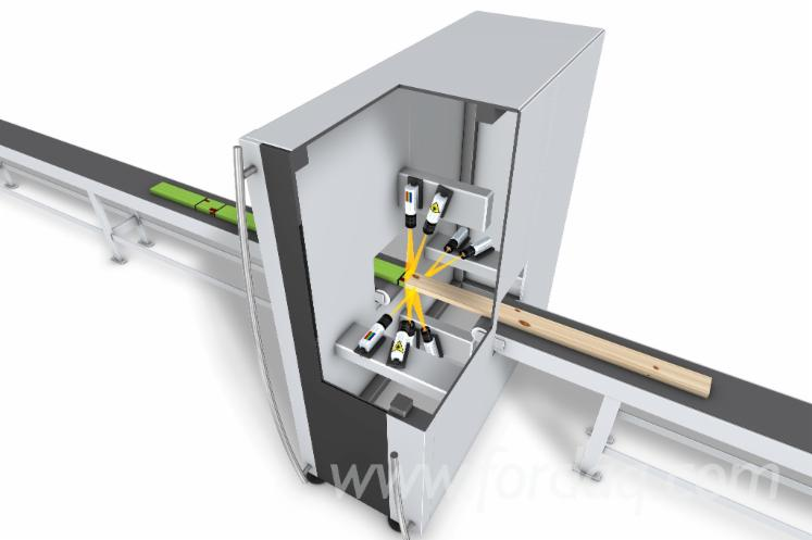 Wood scanner for optimizing cross cutting and ripping - Luxscan - EasyScan