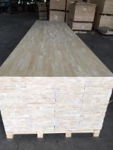 Suministro de productos de madera - Venta Panel De Madera Maciza De 1 Capa Hevea 12;  15;  18;  20;  22;  24;  28;  30;  33;  40;  45;  50;  56;  60 mm Vietnam