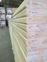 Solid Wood Panels - Rubberwood edged glued Panels for Stairs / very good quality
