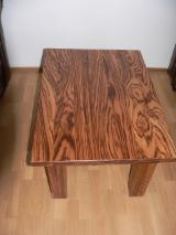Zebrano Solid Panel Table Tops