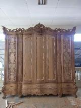 Bedroom Furniture For Sale - Custom Mahogany Carved Wardrobe