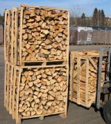 薪炭材-木材剩余物 薪碳材 开裂原木 - 劈好的薪柴-未劈的薪柴 薪碳材/开裂原木 桦木, 橡木