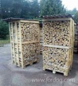 乌克兰 - Fordaq 在线 市場 - 劈好的薪柴-未劈的薪柴 薪碳材/开裂原木 桦木, 橡木