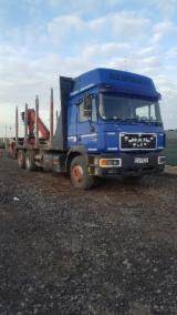 Oprema Za Šumu I Žetvu Kamion Za Prevoz Dužih Stabala - Kamion Za Prevoz Dužih Stabala MAN Polovna 2008 Rumunija