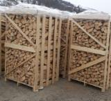 Firewood, Pellets and Residues - Fresh Beech Firewood Cleaved 8-10, 10-12 cm